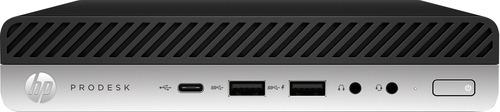 HP ProDesk 600G5 Desktop Mini lntel Core i5-9500T - 8GB DDR4-2666 SODIMM (1x8GB) - 256GB SSD - NO OPTICAL DRIVE - Intel 9560 AC 2x2 BT - Windows 10 Pro 64 - Vertical Stand (3-3-3) - AIR - VGA Port