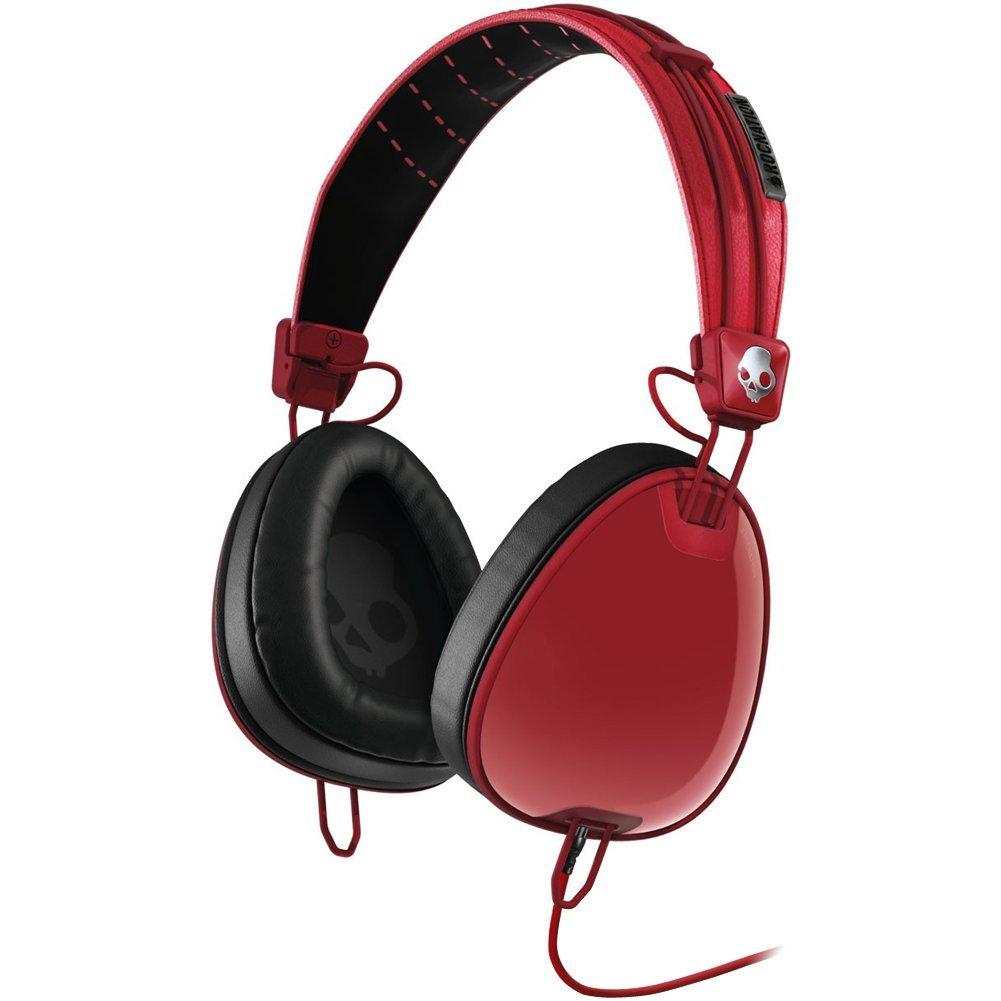 SKDY AVIATOR W/MIC3 - RED/BLACK
